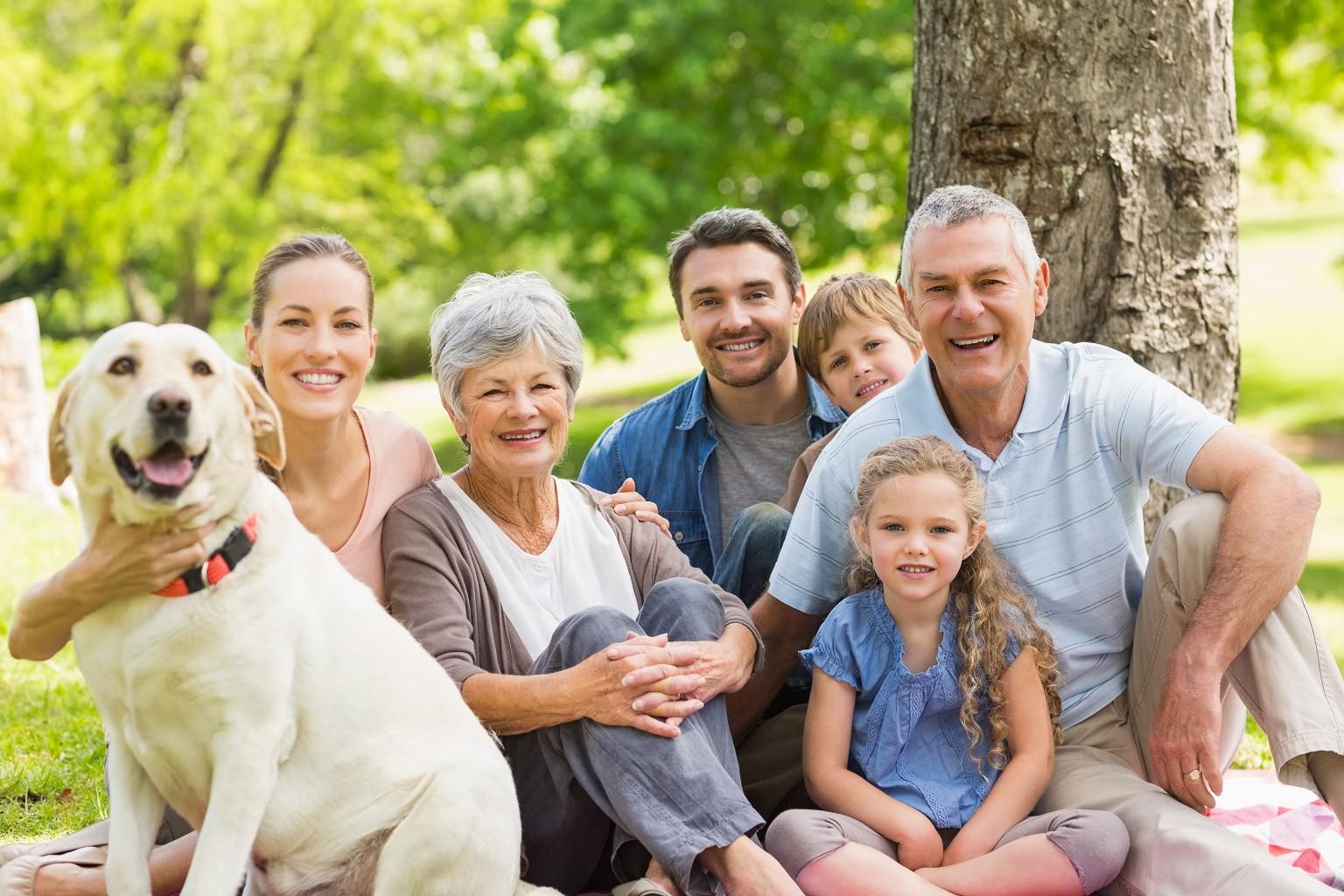 здоровая счастливая семья